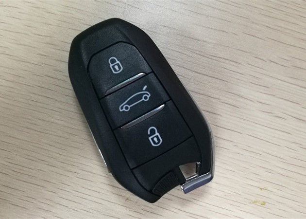 Black Citroen Key Fob 2011DJ1873 Keyless Entry Fob CE0682 433 MHZ