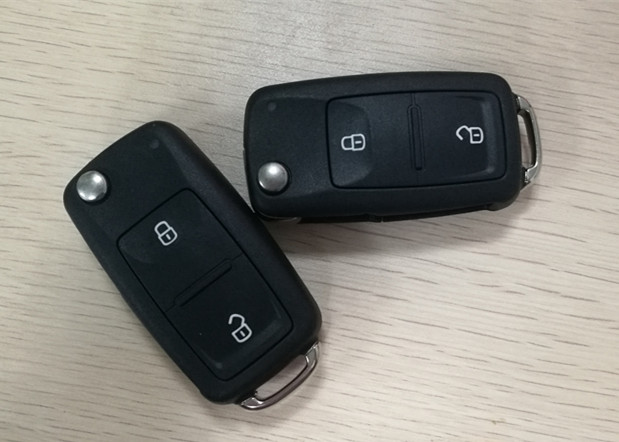 Transporter VW Car Key 7E0 837 202 AD 433 Mhz 2 Button Smart Key Fob