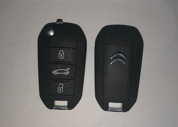 Remote Start Citroen Flip Key 2013DJ0113 3 Button 433 Mhz With High Hardness