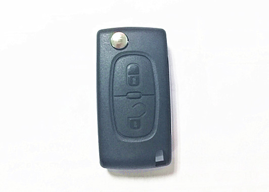 CE0536 Peugeot 207 Key Fob , Remote Control Complete 2 Buttons Peugeot 307 Key Fob