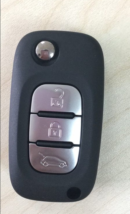 Genuine Renault Flip Remote Key CWTWB1G767 PCF7961 3 Buttons 433 Mhz