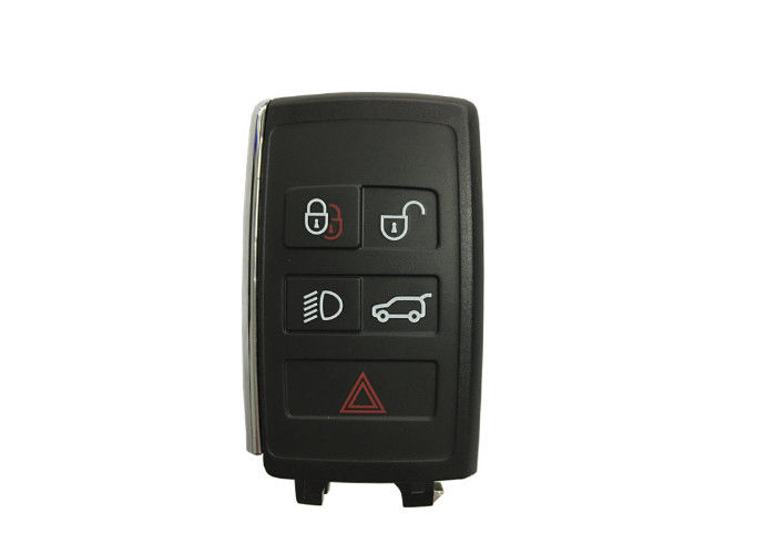 434MHz 5 Button Auto Key Fob / Land Rover Remote Key Plastic Black Color