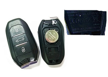 China CE0682 Keyless Entry Fob / Peugeot Remote Key 2011DJ1873 433 MHZ With Blade Valeo A01TAB factory