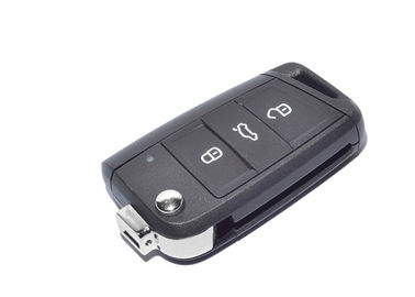 Black Volkswagen Golf Flip Key 5G0 959 753 BA 3 Button 433 Mhz ID 48
