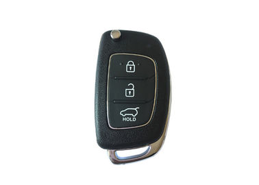 3 Button Smart Hyundai Car Key 4D60 80BIT Black Color Plastic Material